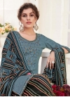 Cotton Black and Grey Punjabi Salwar Suit - 1