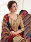 Digital Print Work Semi Patiala Salwar Suit - 1