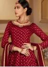 Chinon Cutdana Work Readymade Anarkali Salwar Suit - 1