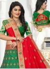 Green and Orange Trendy Lehenga Choli For Ceremonial - 1