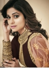 Shamita Shetty Embroidered Work Floor Length Anarkali Suit - 1