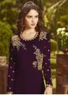 Embroidered Work Faux Georgette Floor Length Anarkali Salwar Suit - 2