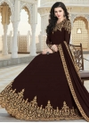 Faux Georgette Floor Length Anarkali Salwar Suit - 1