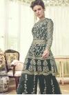 Net Palazzo Designer Salwar Kameez - 1