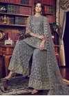 Embroidered Work Net Sharara Salwar Kameez - 1