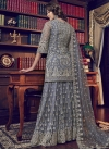 Embroidered Work Net Sharara Salwar Kameez - 2