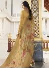 Embroidered Work Satin Silk Trendy Pakistani Salwar Suit - 1