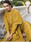Faux Georgette Pant Style Pakistani Salwar Suit For Ceremonial - 1