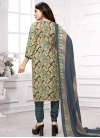 Crepe Silk Digital Print Work Trendy Churidar Salwar Kameez - 1