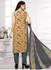 Beige and Grey Pant Style Classic Salwar Suit - 1