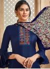 Art Silk Palazzo Style Pakistani Salwar Kameez For Ceremonial - 1