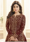 Shamita Shetty Embroidered Work Floor Length Designer Salwar Suit - 1