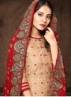 Chanderi Silk Palazzo Style Pakistani Salwar Kameez - 1