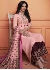 Cotton Silk Palazzo Designer Salwar Kameez For Festival - 1