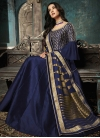 Art Silk Floor Length Designer Suit - 2