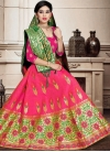 Woven Work Green and Rose Pink Trendy A Line Lehenga Choli - 1