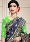 Mint Green and Navy Blue Trendy Lehenga Choli - 1