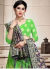 Mint Green and Navy Blue A Line Lehenga Choli For Ceremonial - 1