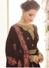 Embroidered Work Faux Georgette Long Length Anarkali Salwar Suit - 2