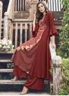 Jacquard Silk Thread Work Readymade Designer Gown - 1