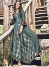 Jacquard Silk Embroidered Work Readymade Classic Gown - 1