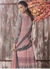 Grey and Salmon Palazzo Style Pakistani Salwar Suit For Ceremonial - 1
