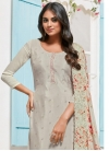 Chinon Pant Style Straight Salwar Kameez For Festival - 1