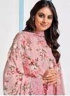 Embroidered Work Chinon Pant Style Straight Salwar Suit - 1