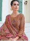Satin Silk Readymade Salwar Suit - 1