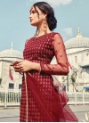 Net Embroidered Work Sharara Salwar Kameez - 1