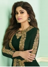 Shamita Shetty Faux Georgette Jacket Style Salwar Kameez For Ceremonial - 1