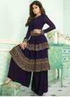 Shamita Shetty Designer Palazzo Salwar Kameez For Ceremonial - 1