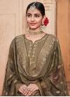 Crepe Silk Palazzo Style Pakistani Salwar Suit - 1