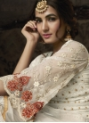 Faux Georgette Palazzo Straight Salwar Suit - 1