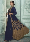 Embroidered Work Jacket Style Floor Length Suit - 1