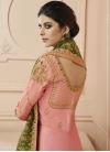 Embroidered Work Floor Length Anarkali Suit - 1