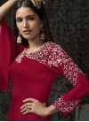 Satin Georgette Embroidered Work Readymade Floor Length Gown - 1