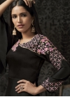 Satin Georgette Embroidered Work Readymade Trendy Gown - 1