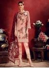 Faux Georgette Pant Style Classic Suit - 2