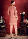 Faux Georgette Pant Style Classic Suit - 1