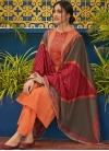 Embroidered Work Pant Style Pakistani Salwar Kameez - 1