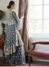 Embroidered Work Sharara Salwar Suit - 1
