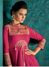 Tafeta Silk Embroidered Work Readymade Classic Gown - 1