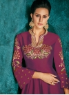 Tafeta Silk Embroidered Work Readymade Floor Length Gown - 1