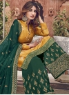 Jacquard Silk Palazzo Style Pakistani Salwar Kameez - 1
