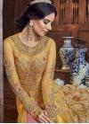 Art Silk Pant Style Designer Salwar Kameez For Festival - 1