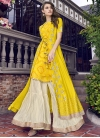 Cream and Yellow Sharara Salwar Suit - 2
