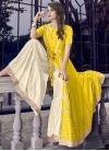 Cream and Yellow Sharara Salwar Suit - 1
