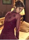 Net Embroidered Work Pant Style Designer Salwar Kameez - 2