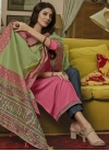 Grey and Pink Maslin Pant Style Classic Salwar Suit - 1